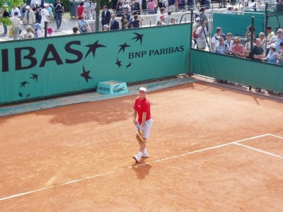 Gaston Gaudio, Roland-Garros 2004 (photo Mariejo)