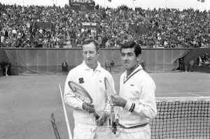 Rod Laver - Ken Rosewall, Roland-Garros 1969 (photo DR)