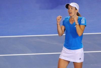 Après la finale de Brisbane, Justine Hénin a encore pris part à un chef-d'oeuvre comme la WTA en produit trop peu. Cette fois, elle a battu Elena Dementieva dans une affiche digne au moins d'une demi-finale. La patronne serait-elle de retour ? (photo DR)