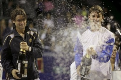 Juan Carlos Ferrero, David Ferrer (photo DR)
