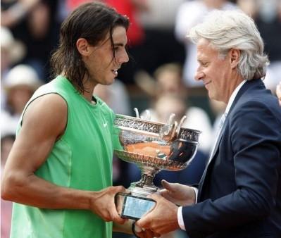 Nadal vs Borg (photo DR)