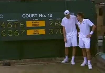 Wimbledon 2010, 1er tour, Isner-Mahut, 70-68 au 5e set