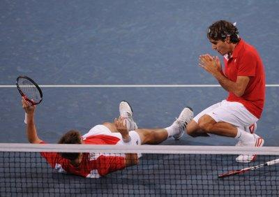 Federer et Wawrinka, Beijing 2008 (photo DR)