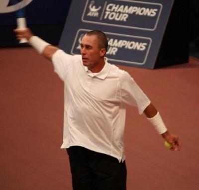 Ivan Lendl, en chair (surtout) et en os (photo MJ)