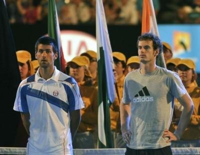 Djokovic, Murray, Open d'Australie 2011 (photo DR)