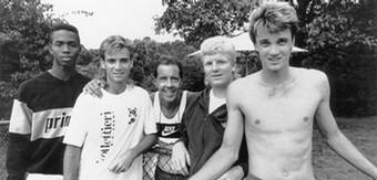 Andre Agassi, Jim Courier chez Bolletieri (photo DR)