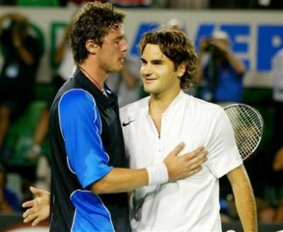 Safin vs Federer, Open d'Australie 2005 (photo DR)