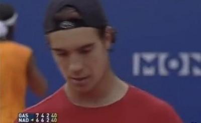 Monte-Carlo 2005, demi-finale Nadal / Gasquet, 6-7 6-4 6-3 (photo DR)