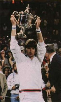 Jimmy Connors, US Open 1982 (photo DR)
