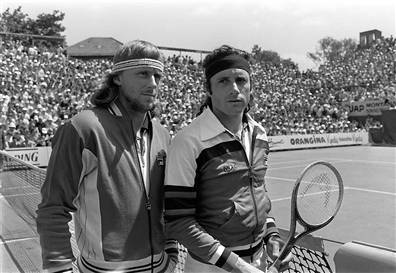Borg vs Vilas, Roland-Garros 1978 (photo DR)