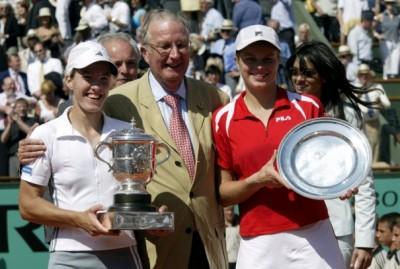 Hénin - Clijsters, finale de Roland 2003 (photo DR)