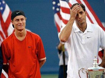 Hewitt vs Sampras, US Open 2001 (photo DR)