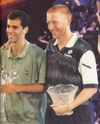 Pete Sampras - Boris Becker, Masters 1996 (photo DR)