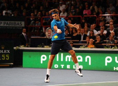 Roger Federer bat Juan Monaco (photo DR)