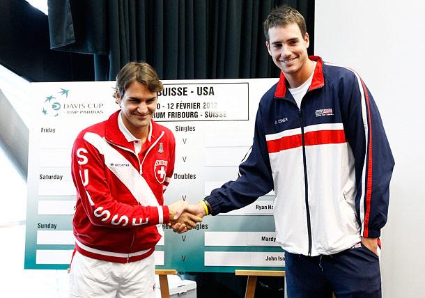 Federer - Isner, Davis Cup (photo DR)