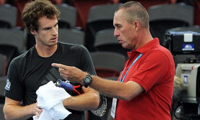 Andy Murray and the laughing Czech (photo DR)
