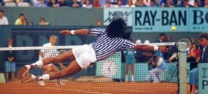 Noah - Hlasek, Roland-Garros 1988 (photo DR)