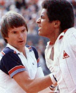 Noah se blesse contre Connors, Roland-Garros 1980 (photo DR)