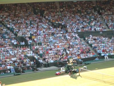Centre court crowd