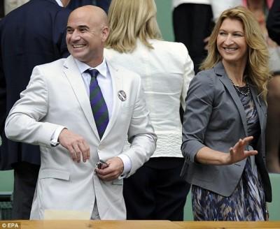 Andre Agassi et Steffi Graf ne rateront pas une miette de ces demi-finales (photo DR)