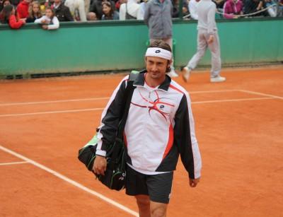 Ferrero - Kohlschreiber, entrée sur le court, Roland 2009 (photo Guillaume)