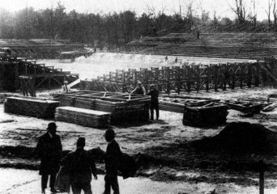 Construction de Roland-Garros, 1928