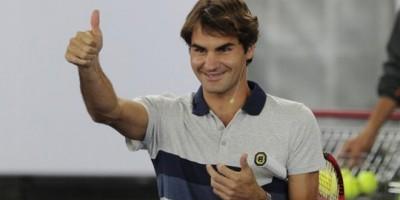 On sent Roger de meilleur humeur avec son ancienne raquette.
