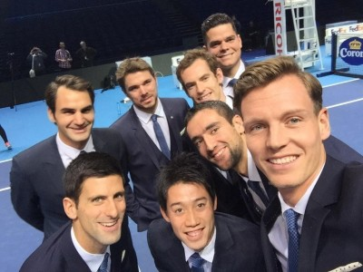 tomas-berdych-roger-federer-novak-djokovic-stan-wawrinka-andy-murray-marin-cilic-milos-raonic-selfie-of-the-year-atp-london-masters