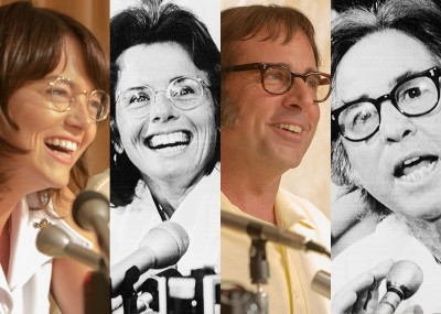 Emma Stone and Billie Jean King, Steve Carell and Bobby Riggs