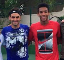 Federer et AUger-Aliassime